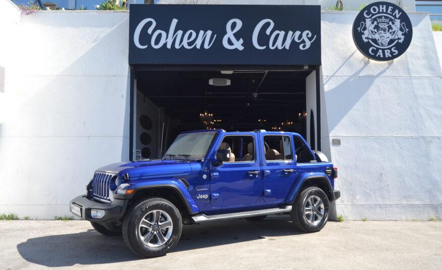 Jeep Wrangler Unlimited Sahara 2.2 Diesel Auto *RUEDAS SAHARA 18″* *NUEVO KM´S* *IVA DEDUCIBLE*